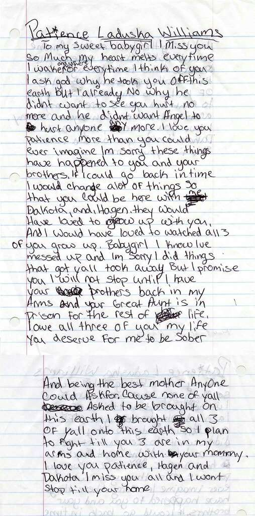 alexis wrote this letter to her late daughter and sons as part of the