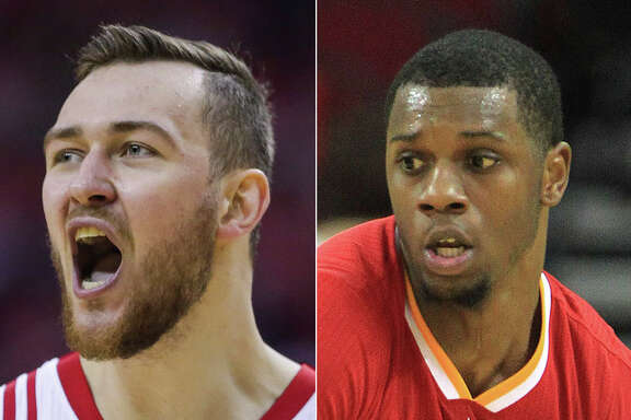 The Rockets are working toward keeping Donatas Motiejunas (left) while Terrence Jones is headed for unrestricted free agency.
