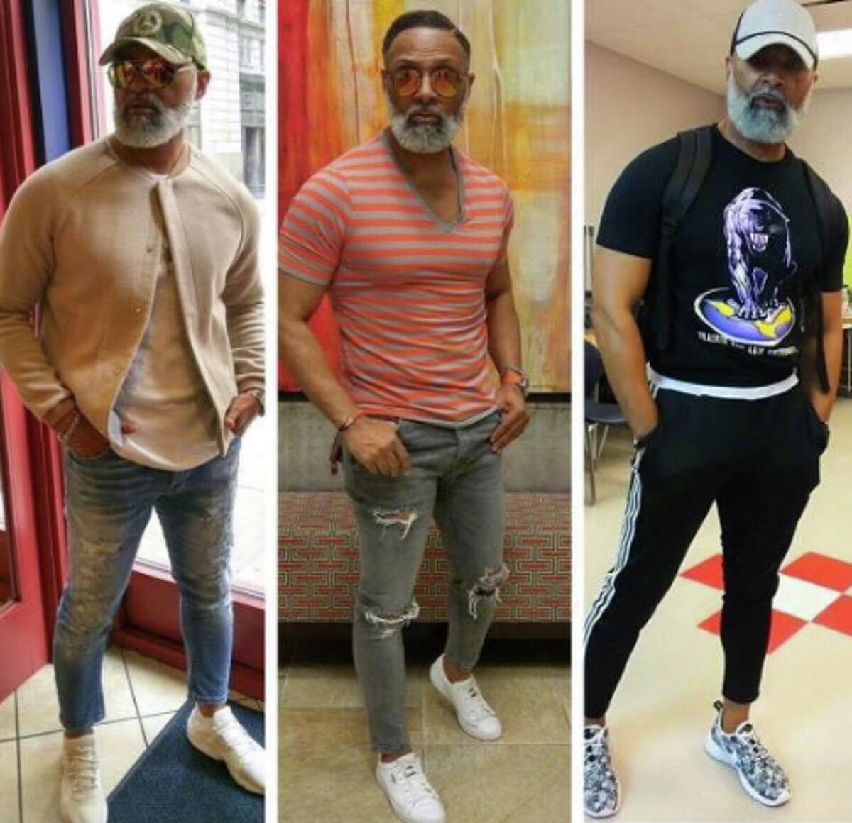 Irvin Randle, a Houston resident, has gone viral with his selfies. The website, Bossip, has dubbed him #MrStealYourGrandma