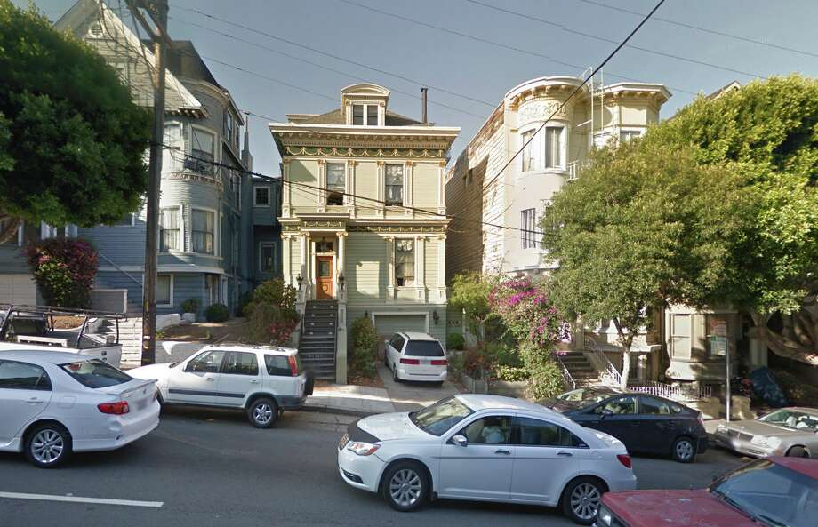 Chateau Ubuntu is located on Fell St. near Alamo Square. Photo: Google Street View