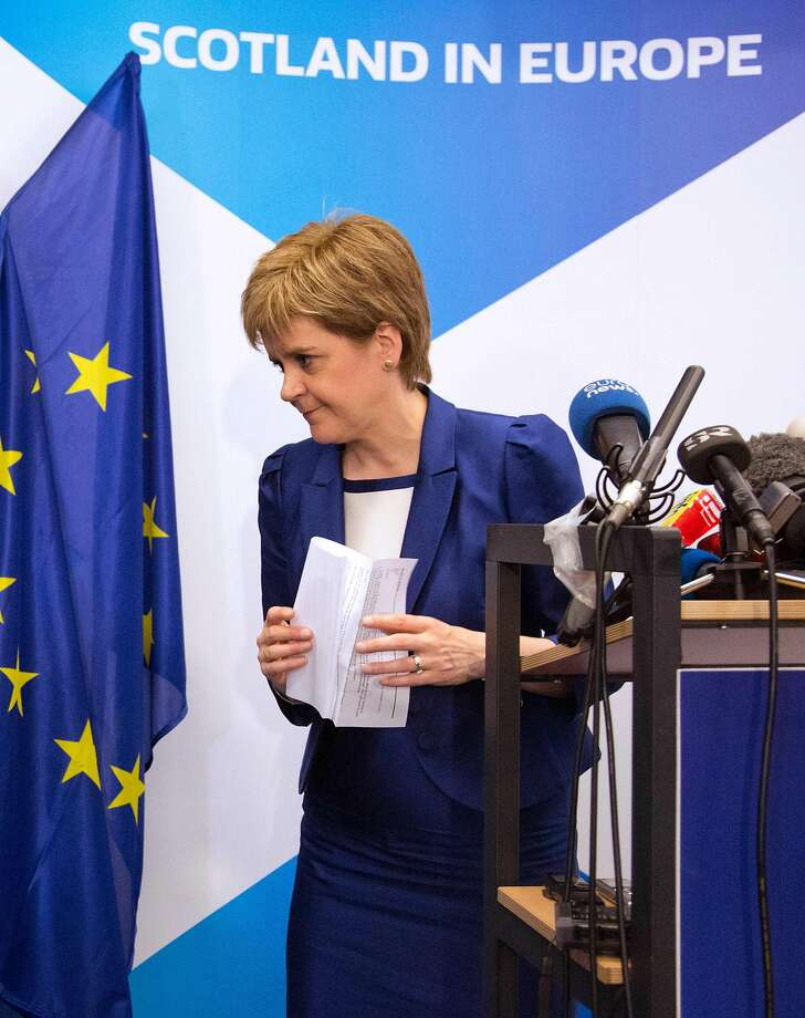 Scottish First Minister Nicola Sturgeon is trying to protect her country's interests in Europe after a majority of Brits voted to leave the European Union. Photo: GEOFFROY VAN DER HASSELT, AFP/Getty Images
