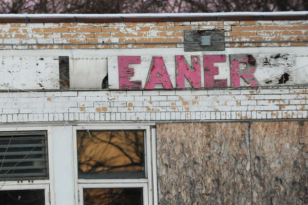 Former Damshire Cleaners on Central Ave. on Tuesday, Jan. 13, 2015 in Colonie, N.Y. DEC investigated a toxic underground plume of dry cleaning fluid that appeared to move southeast under Central Avenue toward homes and businesses. (Lori Van Buren / Times Union)