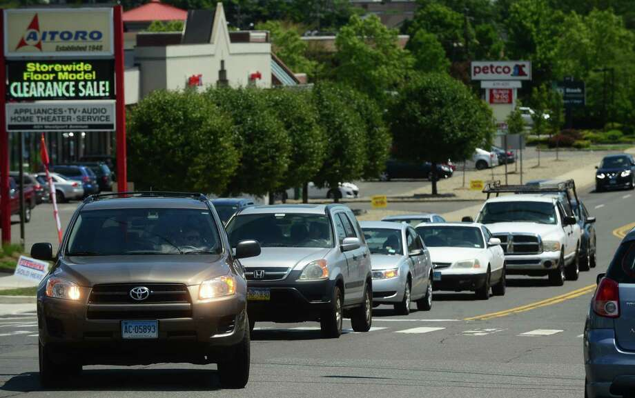 Picture yourself on a busy city street, with those interminable signals. Photo: Erik Trautmann, Hearst Connecticut Media / (C)2016, Norwalk Hour, all rights reserved