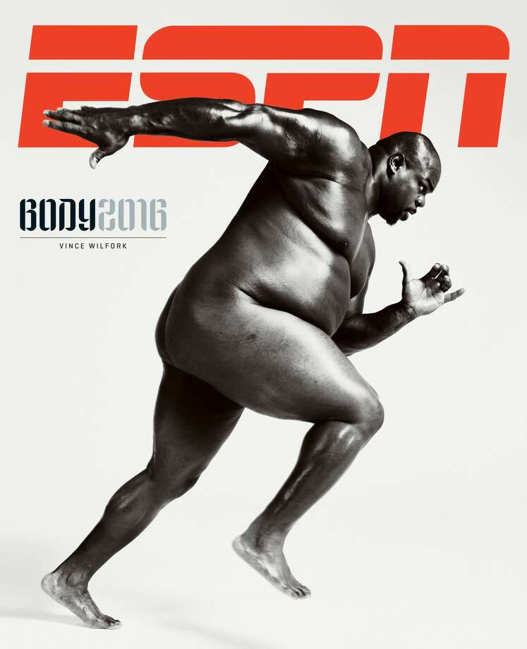 Texans nose tackle Vince Wilfork graces the cover of ESPN the Magazine's Body Issue. The issue is out on newsstands Wednesday.Click through the gallery to see the other athletes featured in this year's Body Issue. Photo: Peter Hapak For ESPN The Magazine