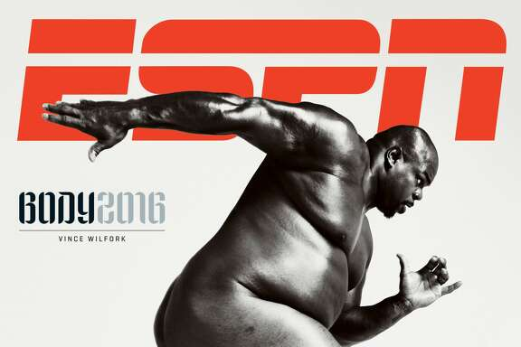 Texans nose tackle Vince Wilfork graces the cover of ESPN the Magazine's Body Issue. The issue is out on newsstands Wednesday.