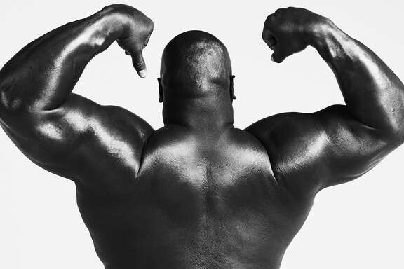 Texans nose tackle Vince Wilfork poses for ESPN the Magazine's Body Issue.