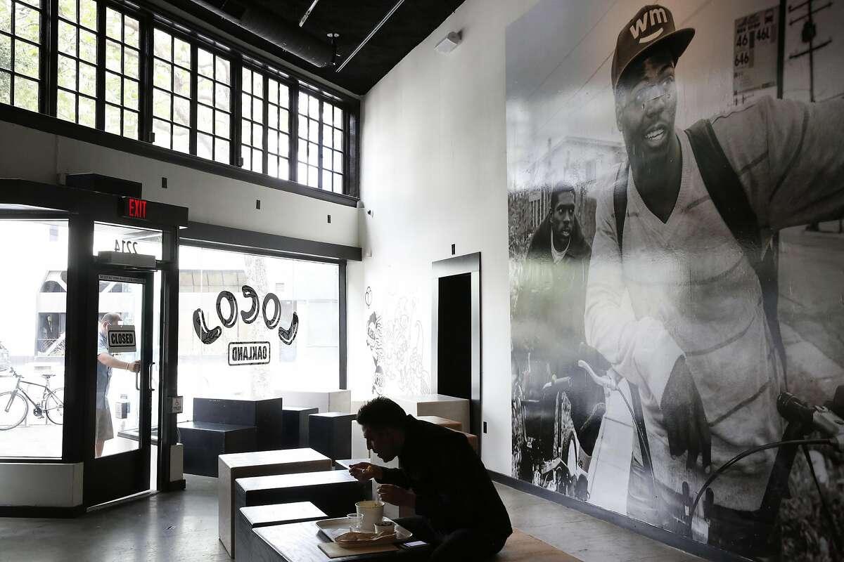 Paul Jones eats an early lunch in LocoL restaurant June 29, 2016 in Oakland, Calif.