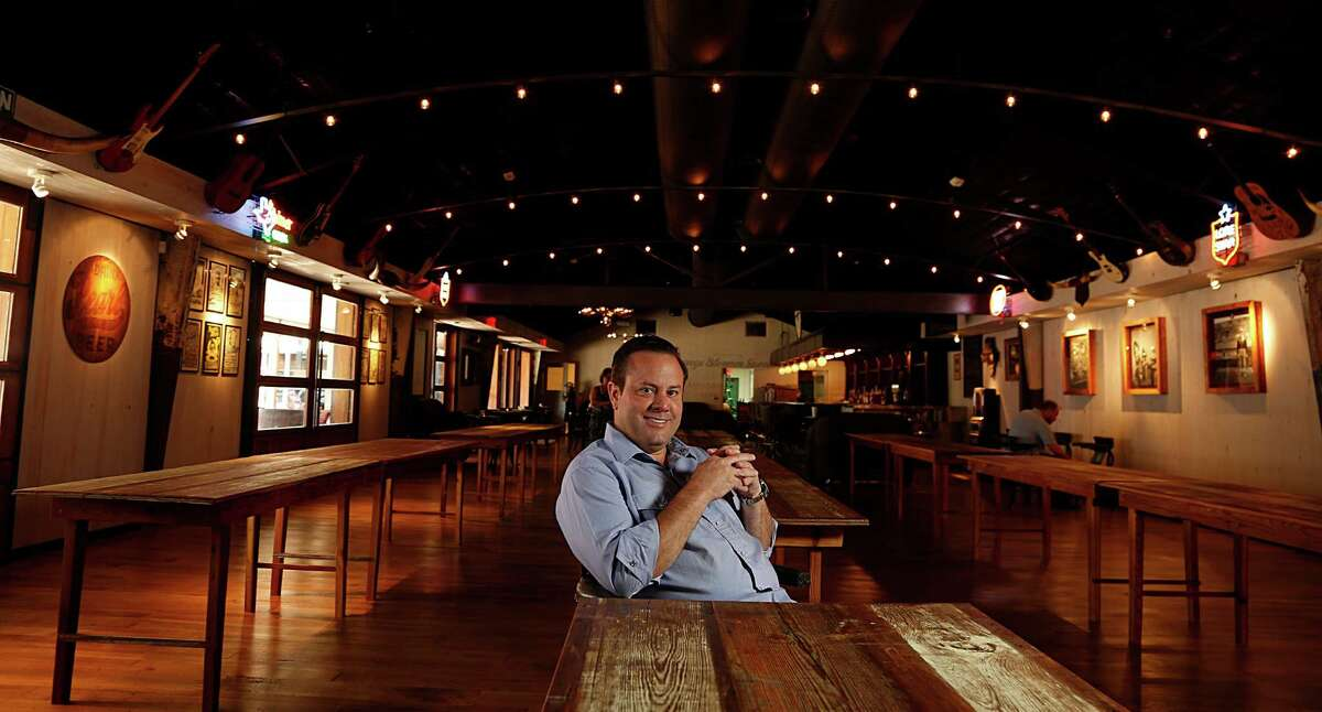 Goode Co. CEO Levi Goode poses for a portrait at Goode Co. Armadillo Palace. The popular restaruant/bar/music venue is holding a party July 2 to celebrate its expansion that includes a new bar, dance hall and patio.