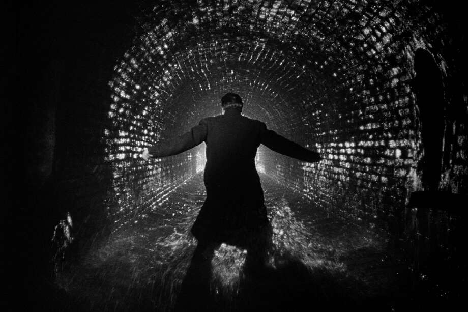 "Harry Lime (Orson Welles) tries to escape in the sewers beneath postwar Vienna in ""The Third Man"" (1949). Photo: Rialto Pictures"