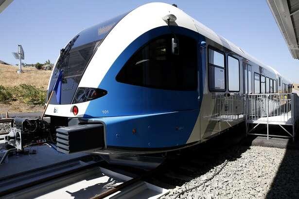 BART's new train car in Antioch, California, on Thursday, June 30, 2016.