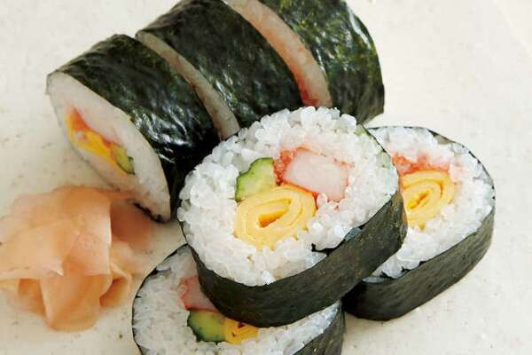Thick Sushi Rolls (Futomaki). Recipe by Eiko Oba. Images from website: JAPANESE FOOD.