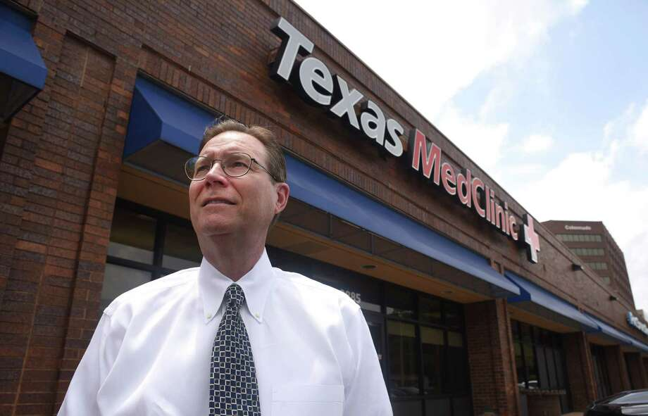 Dr. Bernard Swift Jr., the owner and founder of Texas MedClinic, which runs urgent care clinics in San Antonio, New Braunfels and Central Texas, stands outside his office on Wurzbach Road near Interstate 10 last year. Texas MedClinic will begin accepting Blue Cross Blue Shield of Texas health insurance plans from patients on Friday. Photo: File Photo /San Antonio Express-News / San Antonio Express-News