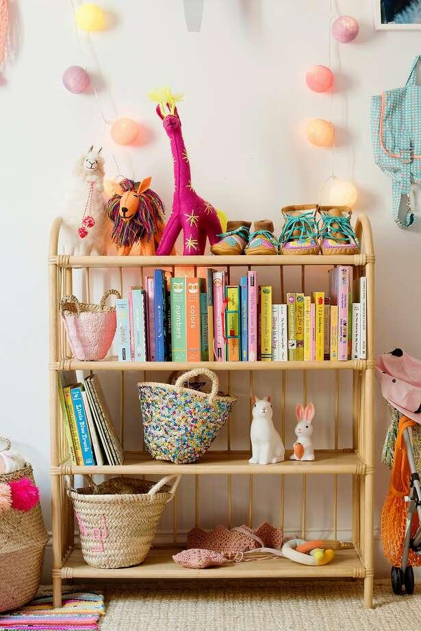 Pretty baskets serve as storage throughout Chloe Fleury's S.F. home. Photo: Sarah Hebenstreit