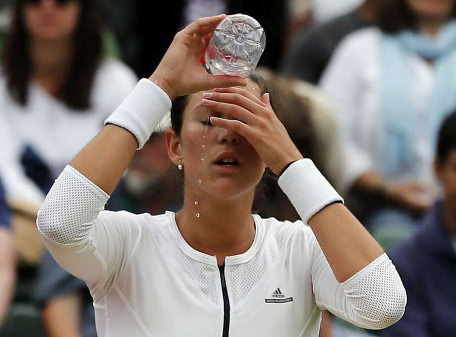 It was a tough day for French Open champion Garbine Muguruza, who was cooled off by Jana Cepelova on Thursday. Photo: Ben Curtis, Associated Press