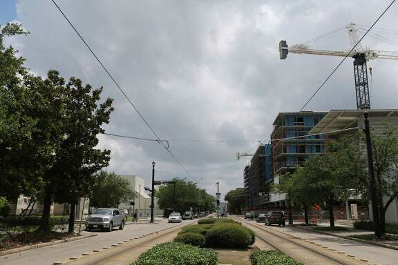 New construction goes up on the west end of Midtown  on Wednesday, June 1, 2016, in Houston. Eastside residents feel the westside is getting more funding for development. ( Elizabeth Conley / Houston Chronicle )