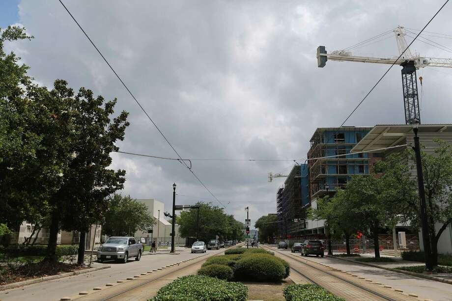 New construction goes up on the west end of Midtown  on Wednesday, June 1, 2016, in Houston. Eastside residents feel the westside is getting more funding for development. ( Elizabeth Conley / Houston Chronicle ) Photo: Elizabeth Conley, Staff / © 2016 Houston Chronicle