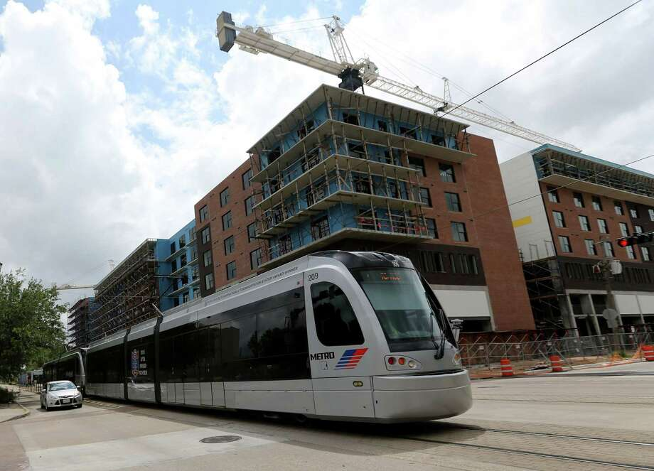 There were doubts about the benefits of light rail to surrounding communities in Houston. Photo: Elizabeth Conley, Staff / © 2016 Houston Chronicle