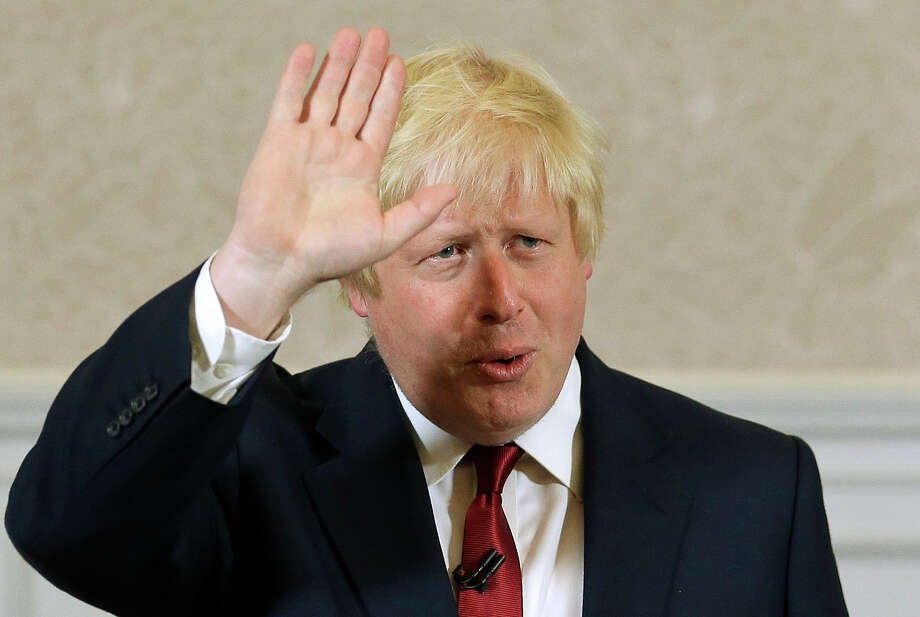 Boris Johnson paraphrased Shakespeare's 'Julius Caesar' in his announcement Thursday to leave the race, quoting a line spoken by Brutus, the Roman leader's ally turned assassin.  Photo: Matt Dunham, STF / AP