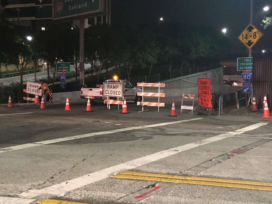 A picture of a closed San Francisco on-ramp on Wednesday, June 29, 2016. The closed ramp caused bad delays on Wednesday and an even worse delay on Tuesday after drivers tried to cross the Bay Bridge to the East Bay following the A's-Giants game at AT&T park. Photo: Matt Shupe / /