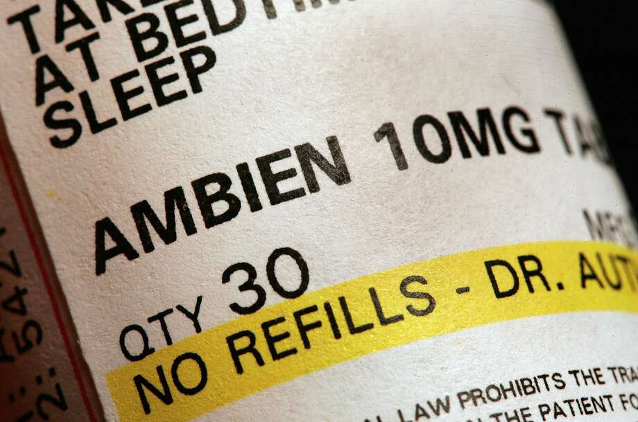 DES PLAINES, IL - MAY 5: A prescription of bottle of Ambien is shown May 5, 2006 in Des Plaines, Illinois. (Photo by Tim Boyle/Getty Images)