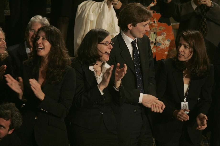 Pelosi family, daughters, Christine, Alexandra, Michiel Vos, (Alexandra's husband) and another daughter Jacqueline, in 2007 Photo: Michael Macor, SFC