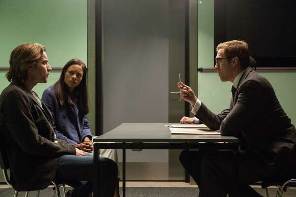 "Ewan McGregor, left, Naomie Harris and Damian Lewis star in ""Our Kind of Traitor."""