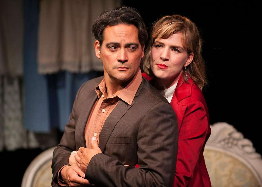 """Valmont (Johnny Moreno) is dating Ana (Sarah Moser) and two pals in """"The Rules."""" Photo: Ken Levin, San Francisco Playhouse"""