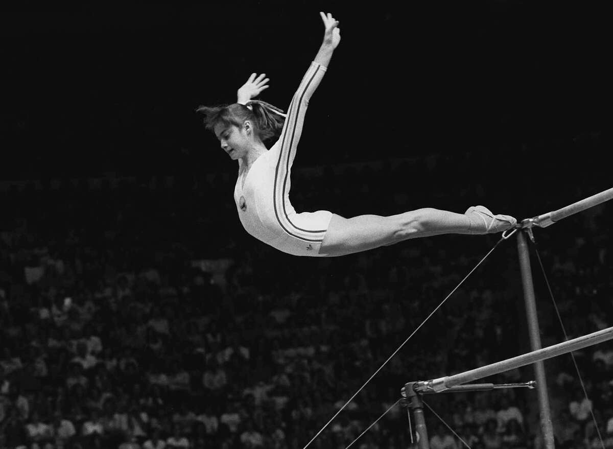 Nadia Comaneci Won nine Olympic medals, including five golds, for Romania in 1976 and '80. First gymnast to score a perfect 10 in Olympic competition.