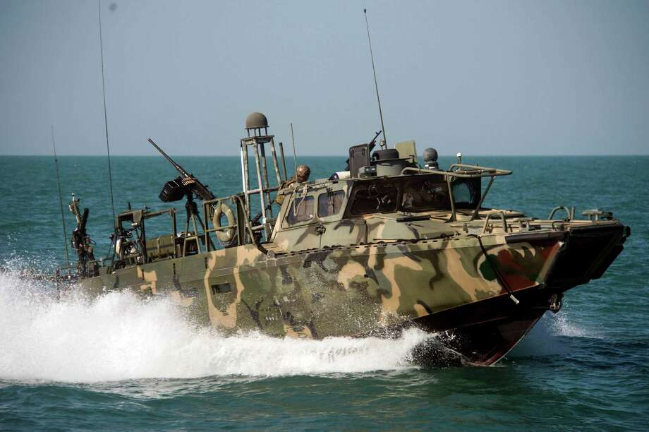 "In this Oct. 26 2015, photo provided by the U.S. Navy, Riverine Command Boat (RCB) 802, assigned to Combined Task Group (CTG) 56.7, conducts patrol operations in the Persian Gulf. Weak leadership, poor judgment, a lack of ""warfighting toughness"" and a litany of errors led to the embarrassing capture and detention by Iran of 10 U.S. sailors in the Persian Gulf in January, according to a Navy investigation released Thursday, June 30, 2016.  (Torrey W. Lee/U.S. Navy via AP) Photo: MC2 Torrey W. Lee, HOGP / US Navy"