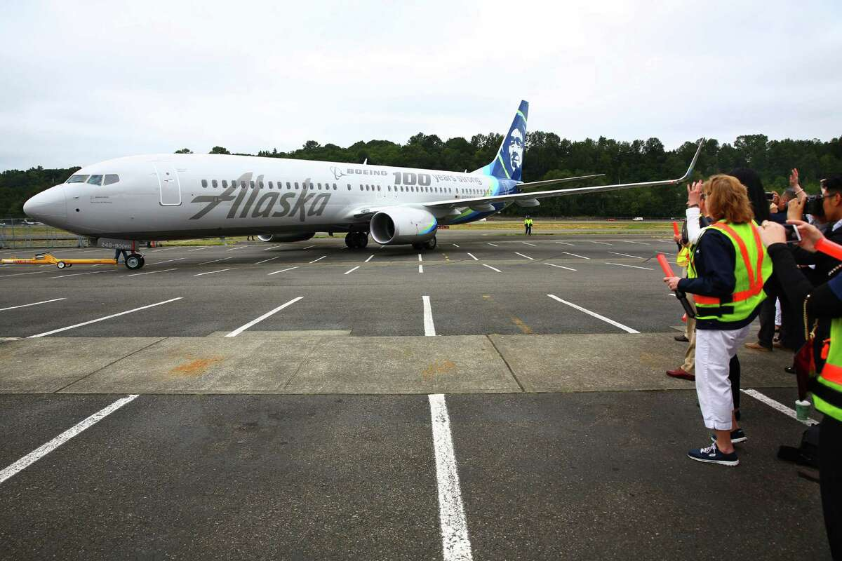 Alaska Airlines is due to take delivery of its first 737 MAX 9 (not pictured) in June, and has ordered another 31 from Boeing. The airline currently has none in its fleet, and it was unclear how the recent crashes of 737 MAX 8s and subsequent investigations into potential safety issues might impact the company's orders.