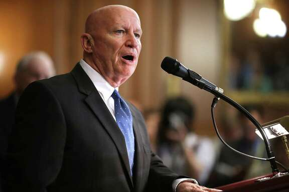 WASHINGTON, DC - JUNE 24:  House Ways and Means Committee Chairman Kevin Brady (R-TX) introduces the House Republicans' tax reform proposal in the Rayburn Room at the U.S. Capitol June 24, 2016 in Washington, DC. Brady said that the GOP wants to 'bust up' the Internal Revenue Service, get rid of the estate tax and create a tax code so simple that Americans can file on a postcard-sized form.  (Photo by Chip Somodevilla/Getty Images)