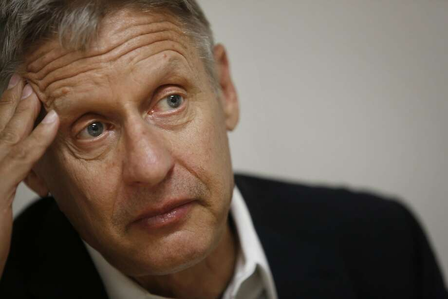 Libertarian Party presidential candidate Gary Johnson talks during an interview at the San Francisco Chronicle on Thursday, June 30, 2016 in San Francisco. Johnson is the former governor of New Mexico. Photo: Lea Suzuki, The Chronicle