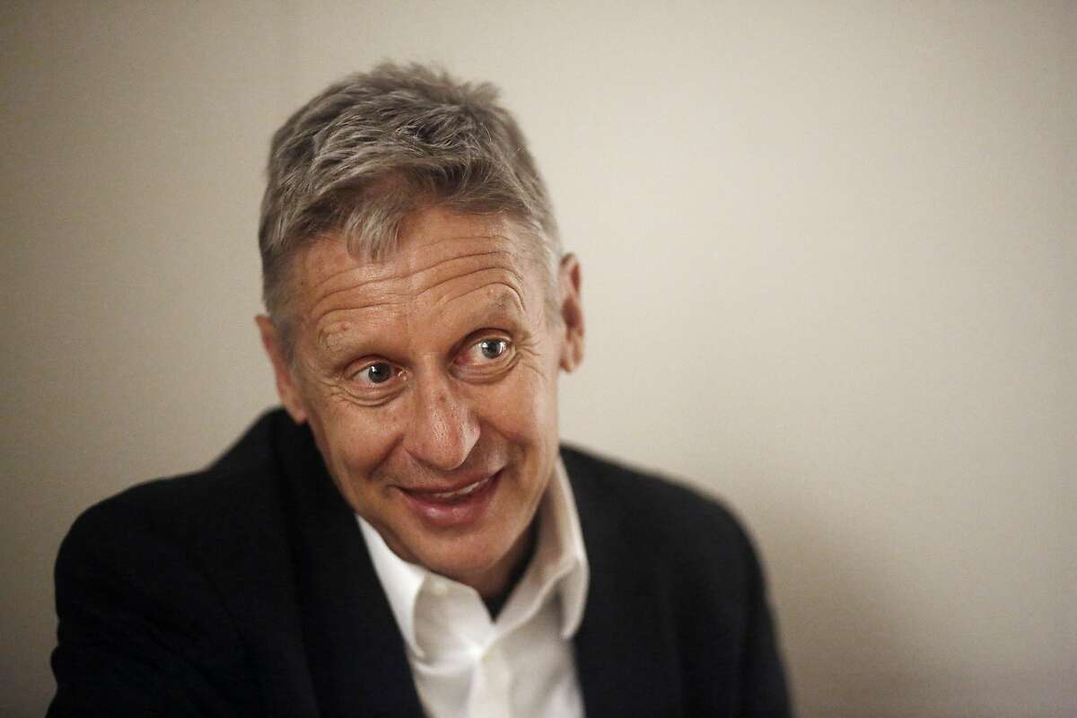 Libertarian Party presidential candidate Gary Johnson talks during an interview at the San Francisco Chronicle on Thursday, June 30, 2016 in San Francisco, California. Johnson is the former governor of New Mexico.