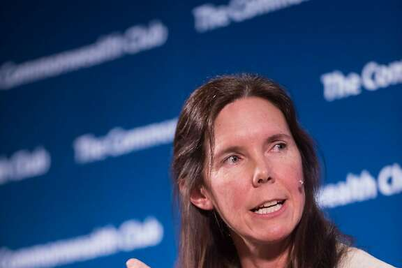 Dawn Weisz, CEO of Marin Clean Energy, speaking at the Commonwealth Club of California.