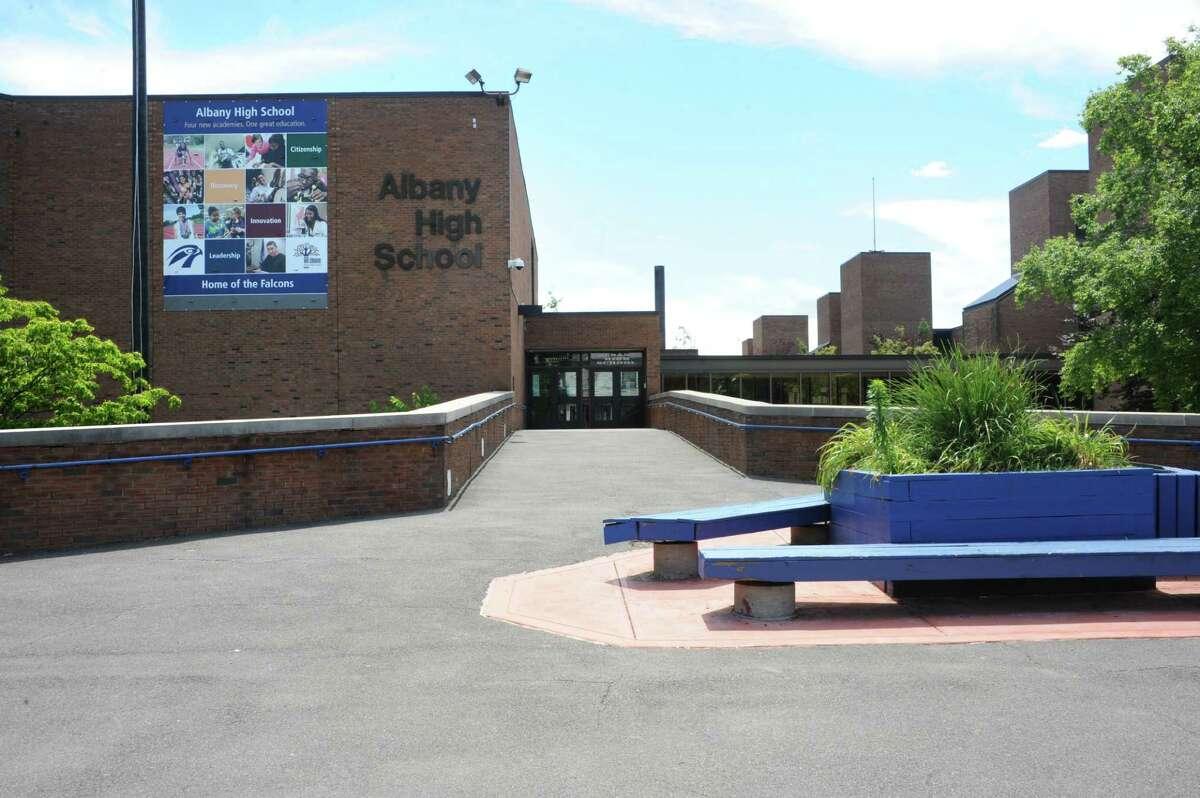 Exterior of Albany High School on Thursday, June 30, 2016 in Albany, N.Y. (Lori Van Buren / Times Union)