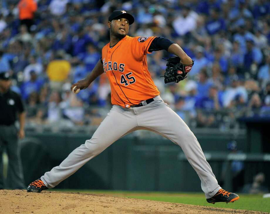 Righthanded reliever Michael Feliz is an example of the potential payoff the Astros can reap by taking a chance and signing a 16-year-old international prospect. Photo: Ed Zurga, Stringer / 2016 Getty Images