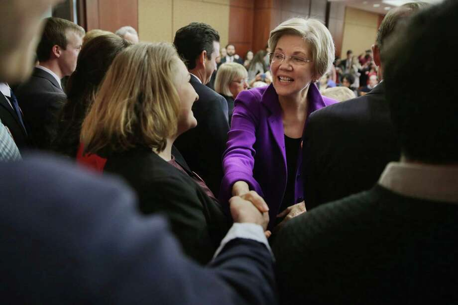 Sen. Elizabeth Warren, D-Mass., is prompting more speculation that she will be the Democrats' vice presidential pick. This excites many because she gives better than she gets when it comes to Donald Trump. Photo: Chip Somodevilla /Getty Images / 2016 Getty Images