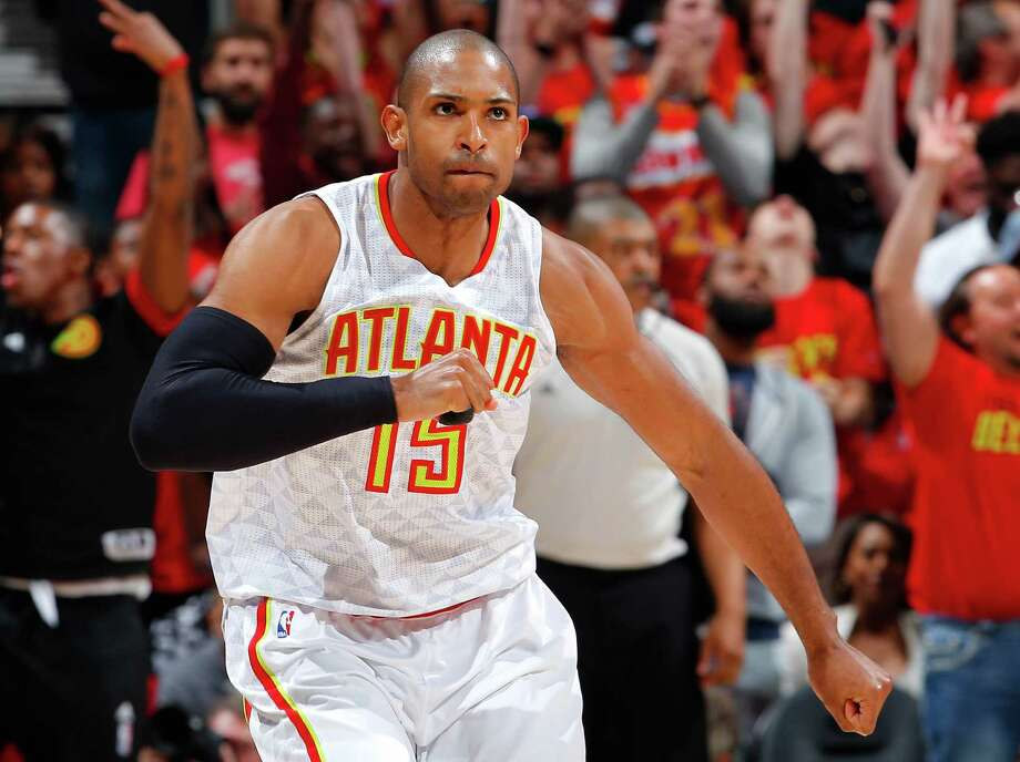 Al Horford is atop the Rockets' wish list of players to sign, but he may well stay in Atlanta. Photo: Kevin C. Cox, Staff / 2016 Getty Images