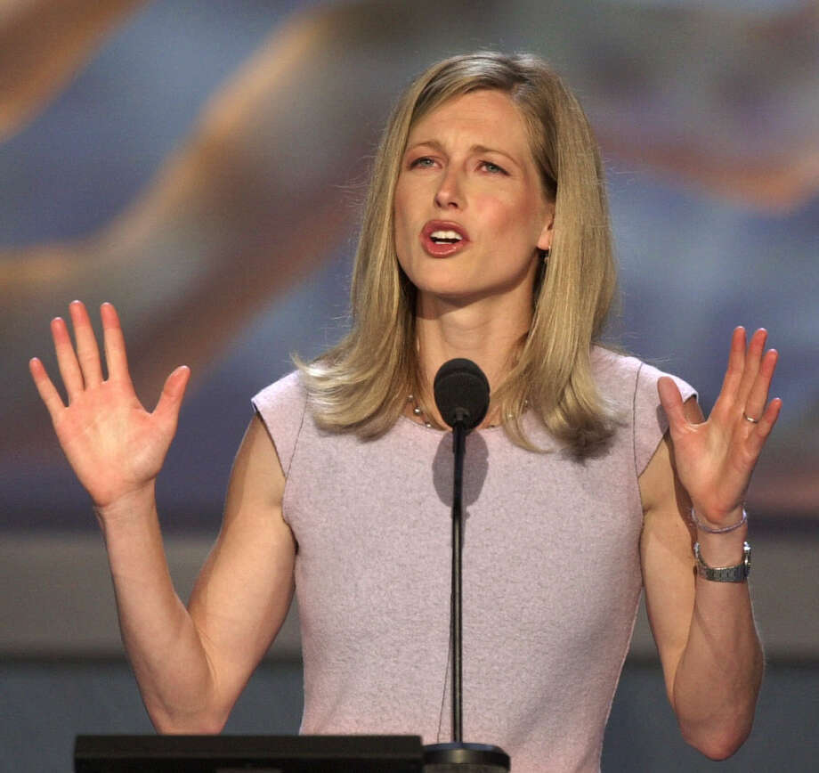 FILE - In this Aug. 16, 2000 file photo,  Karenna Gore Schiff, daughter of Democratic presidential candidate Vice President Al Gore, speaks at the Democratic National Convention in the Staples Center in Los Angeles. Organizers say the daughter of former Vice President Al Gore was among 23 people who were arrested Wednesday, June 29, 2016, 109during a protest of Spectra Energy's so-called West Roxbury Lateral pipeline. (AP Photo/Ron Edmonds, file) Photo: RON EDMONDS, STF / Copyright 2016 The Associated Press. All rights reserved. This material may not be published, broadcast, rewritten or redistribu