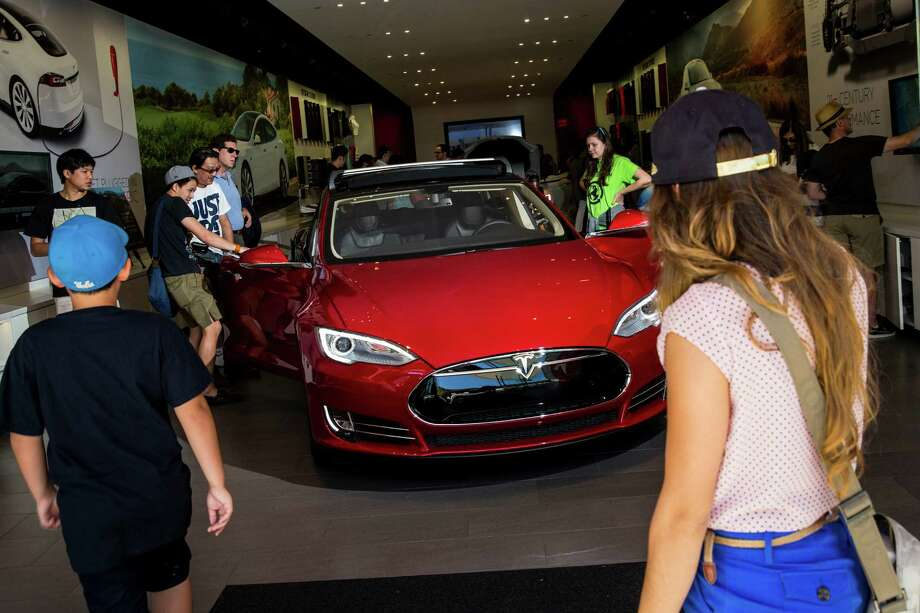 """A Tesla Model S is displayed in Santa Monica, Calif., in 2014. Tesla says a driver in Florida was killed in May while the vehicle was in """"Autopilot."""" Photo: Jay L. Clendenin, MBR / Los Angeles Times"""