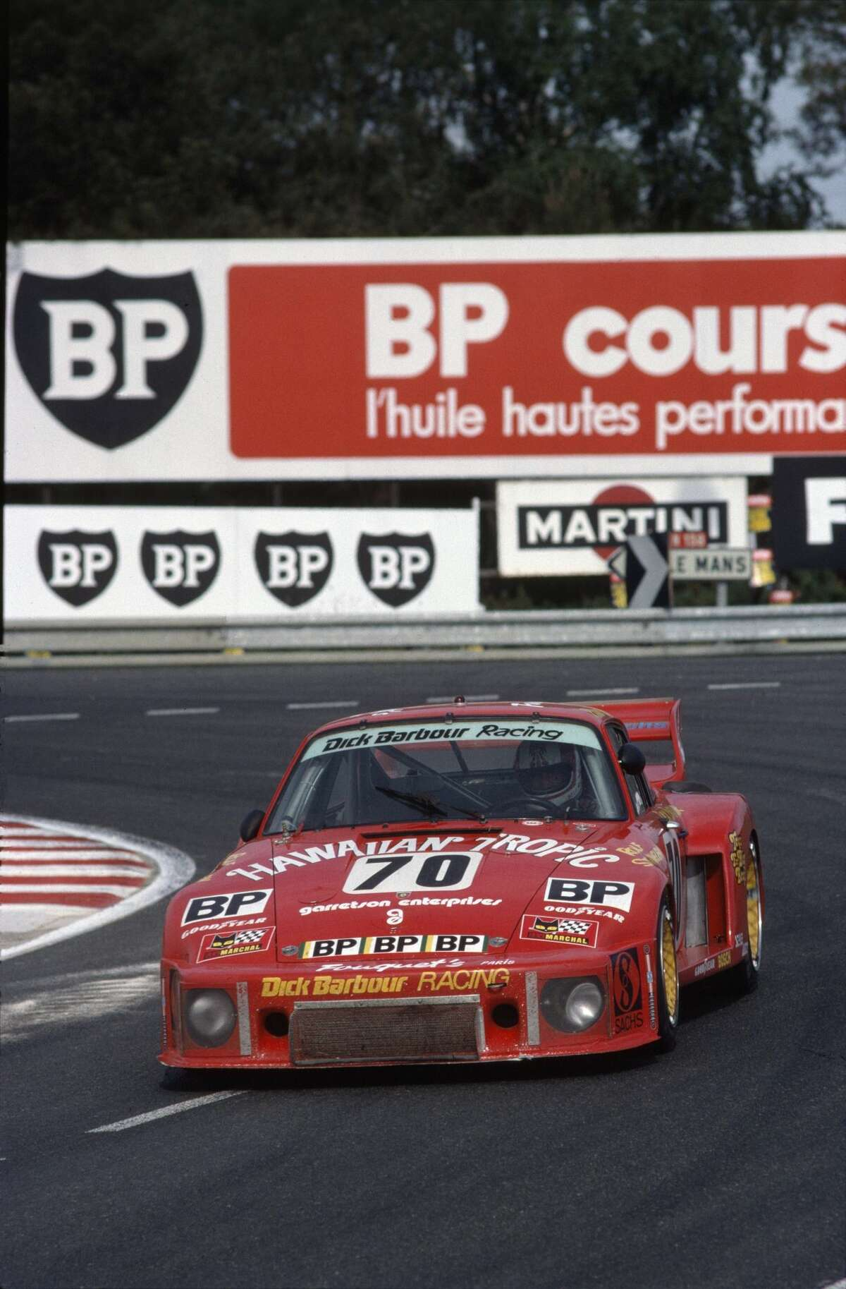 The second place Porsche 935 driven by Rolf Stommelen, Dick Barbour and Paul Newman in 1979.
