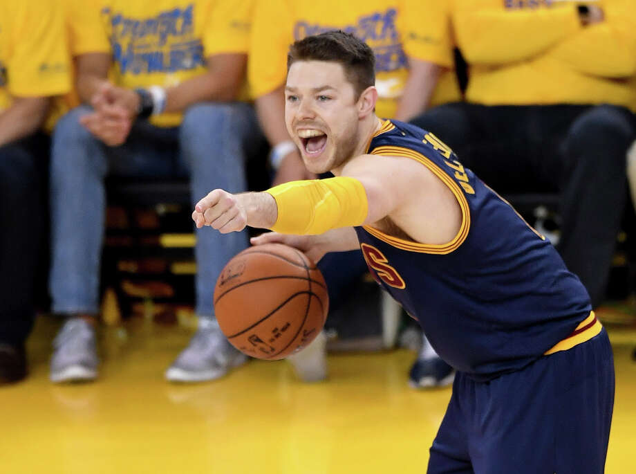Although a backup for the NBA champion Cavaliers, guard Matthew Dellavedova likely will command a $10 million annual salary for next season. Photo: Thearon W. Henderson, Stringer / 2016 Getty Images