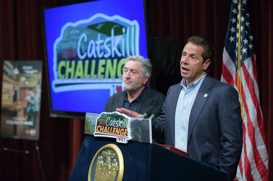 June 30, 2016- Highmount, NY- Governor Andrew M. Cuomo kicks off the 2016 Catskill Summer Challenge at the Bethel Woods Center for the Arts. (Office of Governor) Photo: Philip Kamrass / Office of Governor Andrew M. Cuomo, 2016