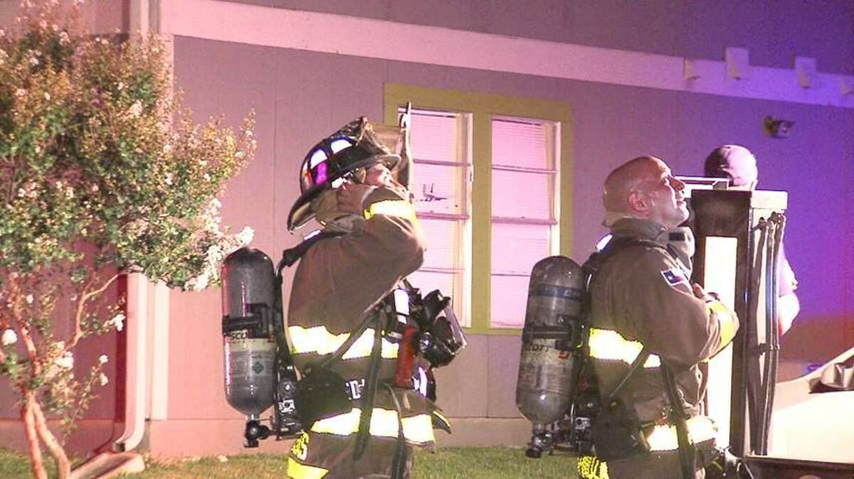 A fire broke out June 30, 2016 at an apartment complex on the North Side of San Antonio.