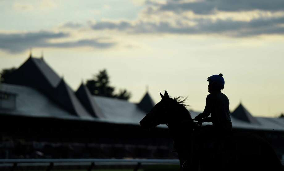 The main track at the Saratoga Race Course this morning Friday July 1, 2016 in Saratoga Springs, N.Y. There are only Three weeks until opening day on July 22nd.   (Skip Dickstein/Times Union) Photo: SKIP DICKSTEIN / 20037181A