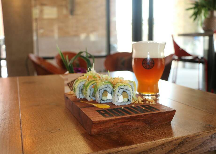 Sweet plaintain uramaki roll Photo: Courtesy Photo