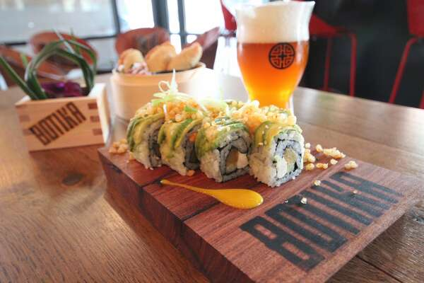 Sweet plaintain uramaki roll