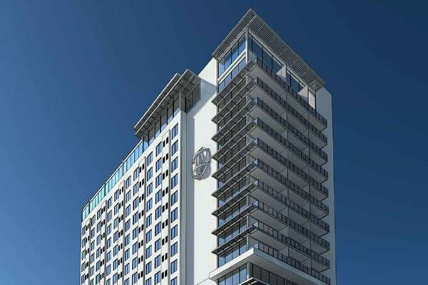 The HDRC will vote Wednesday on a plan to build a 225-foot-tall hotel tower on a vacant lot at 100 North Main Ave.