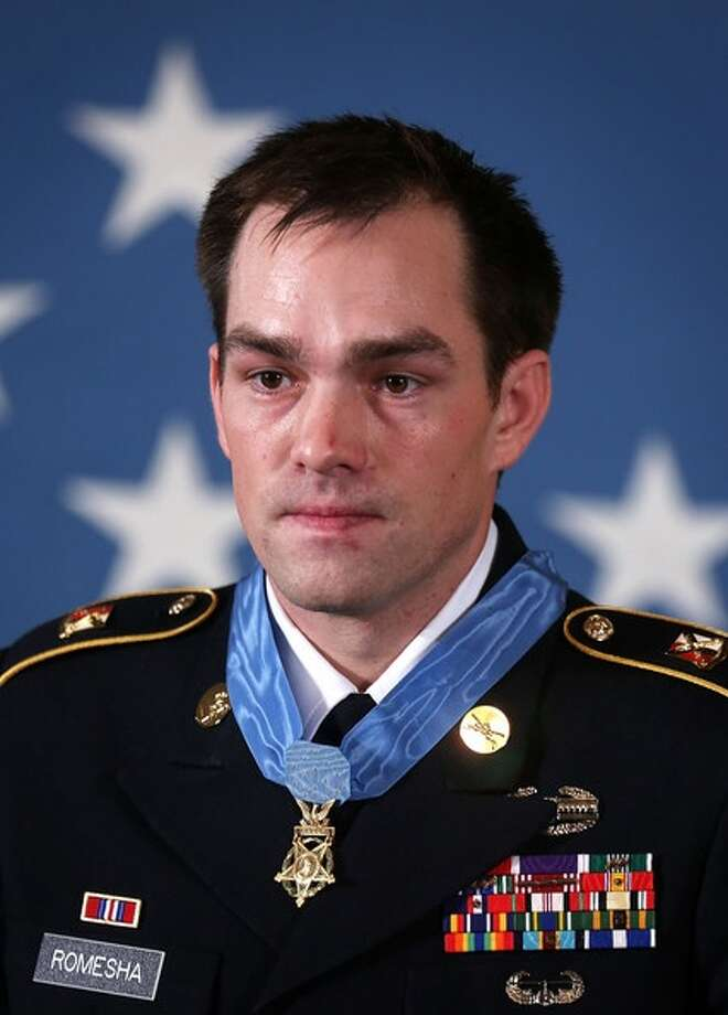 """Author Clinton Romesha earned the Medal of Honor for his """"conspicuous gallantry and intrepidity"""" beyond the call of duty. Photo: Courtesy Photo"""