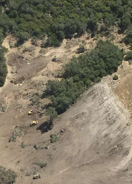 Justin Vineyard and Winery in Paso Robles (San Luis Obispo County) ignited a controversy after this June 7 aerial photo showed the Justin property where old oak trees were cleared to make room for vineyards and a reservoir. Photo: Matt Trevisan, Associated Press